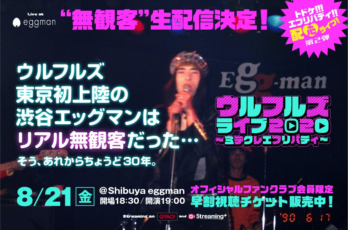 ウルフルズ、2度目の生配信ライブをShibuya eggmanにて開催 | LIVE ...